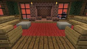 Minecraft Living Room Furniture Hard Core Minecraft How To Build Furniture And A Fireplace Part