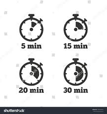 Timer For 15 Min Timer Icons 5 15 20 30 Stock Vector Royalty Free 320404652