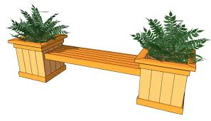 garden bench planter box. plans for a bench | planter free outdoor - diy shed, garden box