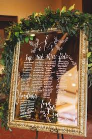Mirror Wedding Seating Chart Mirror Wedding Seating Chart Sign Features Hand Calligraphy