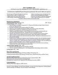 Resume For Property Manager Resume For Property Manager Incepimagine