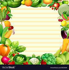 Vegetable Border Design Frame Design With Vegetables And Fruits