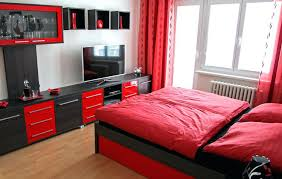 Red White And Black Bedroom Designs The Combination Red And Black ...