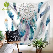 Dream Catcher Carpet Adorable New Arrival Watercolor Tapestry Dream Catcher Feathers Wall Hanging