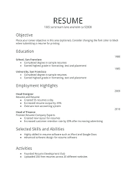 Blank Resume Template Pdf Awesome Simple Sample Of Resume Examples Job Resumes Template Free