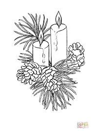 Small Picture Beautiful Christmas candles coloring page Free Printable