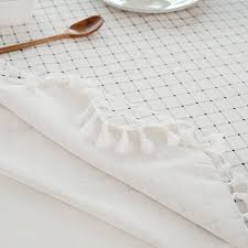 linen tablecloth 60 x 102 inch white macrame lace table cloths plaid rectangle table