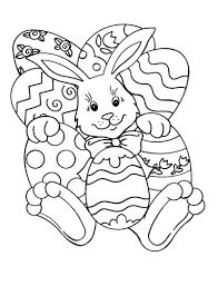 Easy Easter Coloring Pages Bunny And Eggs Easter Coloring Pages Of