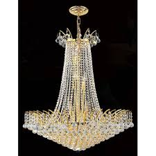 worldwide lighting corp empire 16 light gold finish with clear crystals chandelier