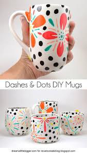 dot and dash diy mugs