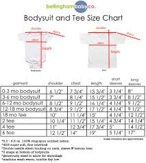 Size Chart Bellingham Baby Company