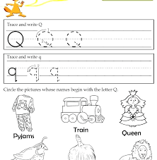 Letter Q Handwriting Worksheets Free Handwriting Worksheets For The ...