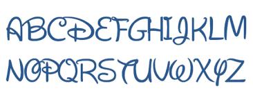Disney Font Disney Font Youre Like Really Crafty