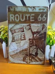 vintage metal signs retro metal tin sign route 66 wall decor