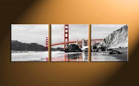 unbelievable piece black and white city group canvas pict for panel wall art trends concept 3