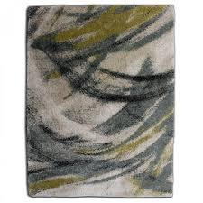 brush stroke green abstract rug 1