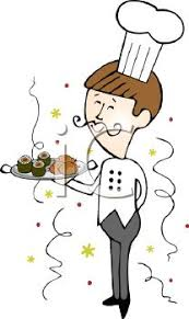 Catering Clipart Royalty Free Clipart Image Catering Chef Serving Food At A