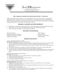Registered Health Information Administrator Resume Sample Vinodomia