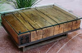 rustic wood coffee table style