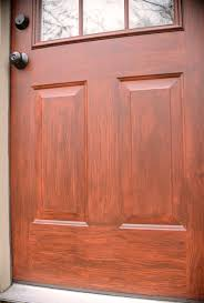 faux woodgrain door closeup