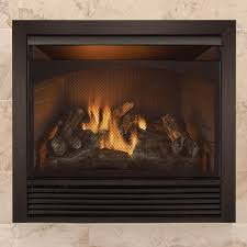 full size dual fuel ventless natural gas propane fireplace insert
