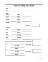 Money Count Sheet The Best Worksheets Image Collection Download