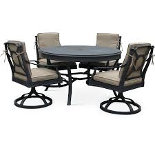5 piece outdoor dining set. 5 Piece Outdoor Patio Dining Set With Swivel Chairs - Antioch
