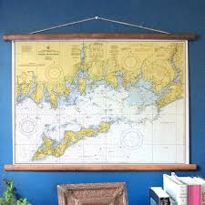 Mystic Ct Fishers Island Vintage Nautical Chart The