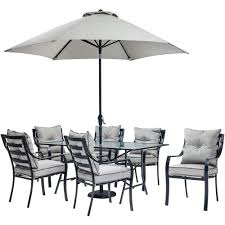 Outdoor Dining Sets With Umbrella Home Styles Largo 6 Piece Patio