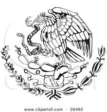 mexican flag eagle. Delighful Eagle Clipart Illustration Of The Mexican Coat Of Arms Showing Eagle  With Flag