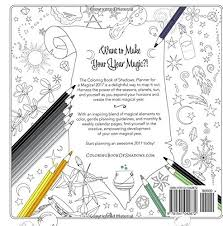 coloring book of shadows planner for a magical 2018 amy cesari 9781541042872 amazon books