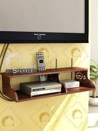 home sparkle brown carved wooden wall shelf