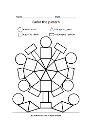 Printable Color by Shape Worksheet for Preschool Kids | Color by ...