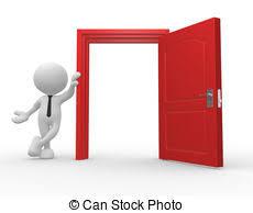 open door clipart. Open Door - 3d People Man, Person And A Door. Clipart Can Stock Photo
