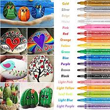 Acrylic Paint Marker Pens, RATEL <b>18 Colors</b> Premium Waterproof ...