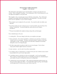 Research Paper Example Outline Essay Examples English Cover Letter