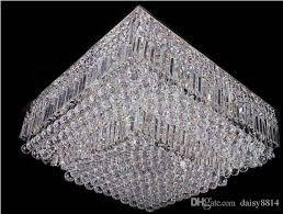 high quality square design modern crystal chandelier living room lights ac110v 220v luxury home decorative crystal lighting antler chandelier