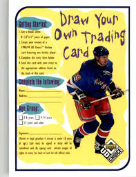 how to make your own trading cards 1998 99 upper deck ud choice draw your own trading card wayne