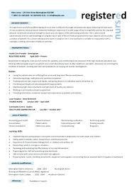 Resume Template For Nursing Job Resume Format For Nurse Wikirian Com