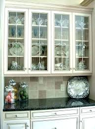 cabinet glass doors kitchen wall cabinets with black glas