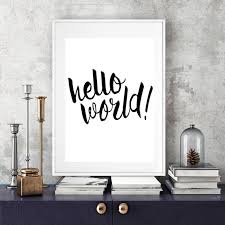 canvas prints for baby room. Hello World Nursery Quote Canvas Painting Minimalis Black And White Poster Prints Wall Art Picture Kids Room Home Decor No Frame-in \u0026 Calligraphy For Baby R