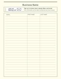 Email Signup Template Employee Sign In Sheet Printable Email Sign Up Sheet Template 21