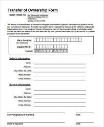 forms of ownership sample transfer of ownership forms 8 free documents in word pdf