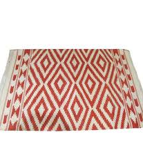 indian rug red geometrical cotton hand woven rug indian rug red geometrical cotton hand woven rug at low snapdeal
