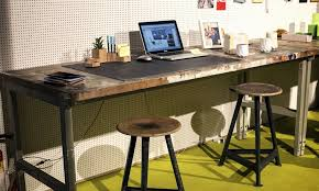 industrial home office desk. industrial home office desk in wood and metal design ideas c