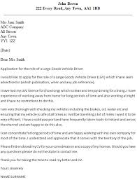 Driver Cover Letters Lgv Driver Cover Letter Example Icover Org Uk