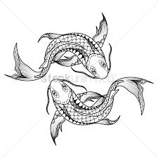 Pisces Drawing Design Pisces Zodiac Intricate Design Vector Image 1987897