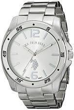 polo watch u s polo assn classic men s usc80223 silver tone watch link bracelet new