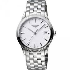 new longines flagship automatic white dial stainless steel mens image is loading new longines flagship automatic white dial stainless steel