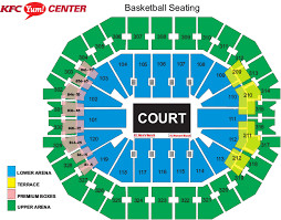 Indiana Basketball Seating Chart Louisville Mens Basketball Vs Indiana State Kfc Yum Center